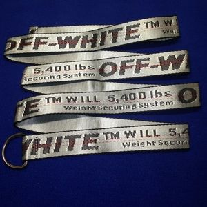 Other - Off White Belt D-Buckle Gray